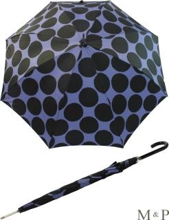 M&P Damen Regenschirm Long stabil Automatik Circulos blau