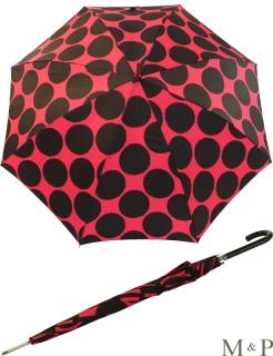 M&P Damen Regenschirm Long stabil Automatik Circulos rot