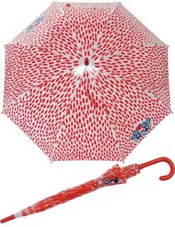 Glockenschirm transparent durchsichtig - Moskito Love rot