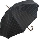 Doppler Manufaktur Regenschirm Kastanie schwarz mit Nadelstreifen