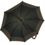 Regenschirm Doppler Kastanie Baumwolle Zürs - schwarz mit Borte