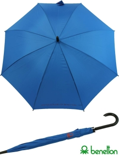 Benetton Regenschirm Automatik Stockschirm HW royal blue