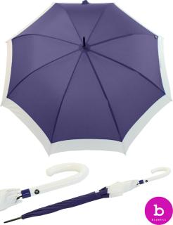 Bisetti Regenschirm Long Automatik Canto Blanca lila