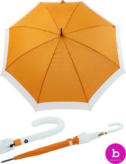 Bisetti Regenschirm Long Automatik Canto Blanca safran gelb