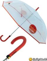 Regenschirm durchsichtig transparent Smiley World orange