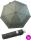 Bisetti Taschenschirm mit Auf-Zu Automatik - Lluvia Feliz grau