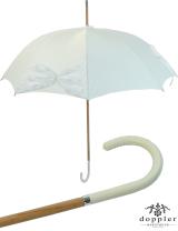 Hochzeits - Regenschirm Wedding Wien - Mesh mit Perlenbesatz - weiss