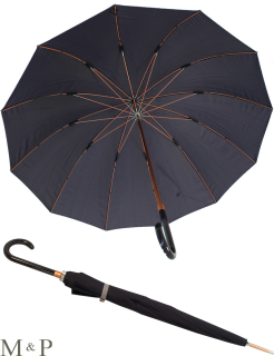 M&P eleganter leichter Damen Stockschirm - Regenschirm 12 teilig manual  - Liso violett