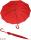 M&P eleganter leichter Damen Stockschirm - Regenschirm 12 teilig manual  - Liso rot