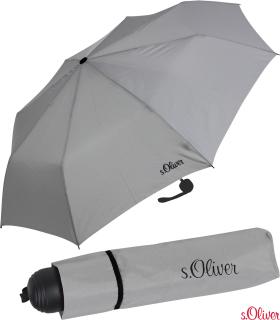 s.Oliver Mini Schirm Damen Taschenschirm Fruit Cocktail - grau
