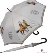 Stockschirm mit Automatik - Zwei braune Pferde UV-Protection