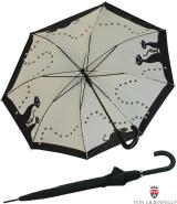 Stockschirm Automatik - Schwarze Katzen mit Doppelbespannung UV Protection