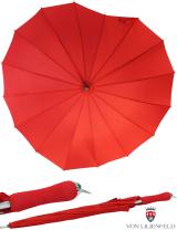 Regenschirm Herz - 16 teilig rot