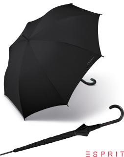 Esprit Regenschirm Long Automatik Schirm Basic schwarz