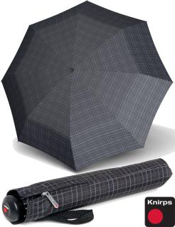 Knirps Herren-Taschenschirm Topmatic SL Gents Prints grey Square