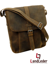 Old School A4 Messenger High-size Büffelleder -...