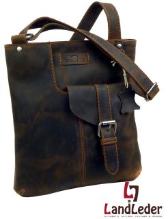 Old School Croos-Casualbag rustikal - praktische Leder Umhängetasche - LandLeder