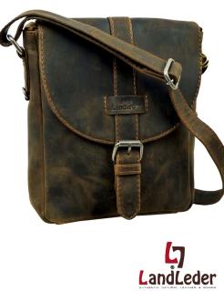 Umhängetasche Messenger bag aus Leinen mit Leder RESTPOSTEN