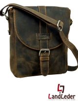 Old-School Casualbag rustikale Leder- Schultertasche...