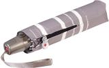 Knirps Taschenschirm Mini Fiber T2 duomatic Auf-Zu-Automatik - stripe art taupe
