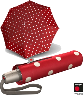 Knirps Taschenschirm Mini Fiber T2 duomatic Auf-Zu-Automatik - dot art red