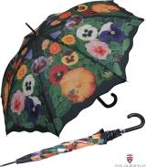 Regenschirm Automatik Schirm - Stiefmuetterchen mit...
