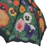 Regenschirm Automatik Schirm - Stiefmuetterchen mit  UV-Protection