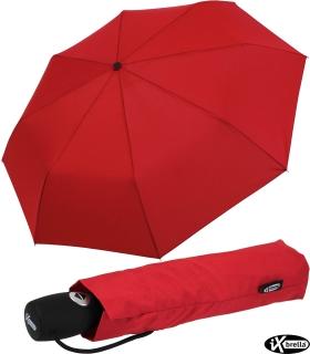 iX-brella stabiler Taschenschirm Mini Regenschirm mit Auf-Zu-Automatik - mid class rot