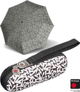 Knirps Taschenschirm Supermini Regenschirm X1 key black schwarz-weiß