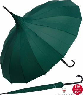 Regenschirm Sonnenschirm Long Pagode UV-Protection Charlotte grün