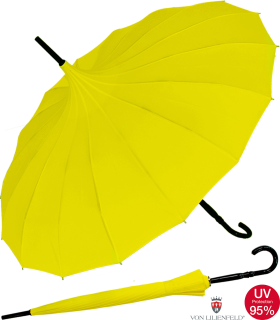 Regenschirm Sonnenschirm Long Pagode UV-Protection Cecile gelb