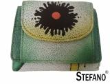 Stefano - Handbemalte Minibörse mit Überschlag...
