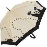 Regenschirm Automatik Schirm - Schwarze Katzen UV-Protection