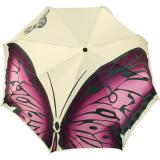 Doppler Manufaktur VIP Damen Taschenschirm Auf-Zu Automatik Satin - Butterfly creme