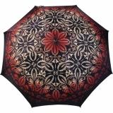 Doppler Damen Stockschirm Elegance Satin VIP Automatik - thistle pattern red