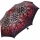 Doppler Manufaktur VIP Damen Taschenschirm Auf-Zu Automatik Satin - thistle pattern red