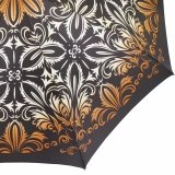 Doppler Damen Stockschirm Elegance Satin VIP Automatik - thistle pattern gold