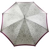 Doppler Damen Stockschirm Elegance Satin VIP Automatik - silver white points