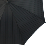 Doppler Manufaktur Herren Stockschirm Diplomat Orion schwarz gestreift - schwarzer Griff