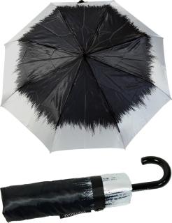 Edler Mini Taschenschirm Satin von PERTEGAZ mit Rundhakengriff - Flame black