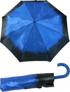 Edler Mini Taschenschirm Satin von PERTEGAZ mit Rundhakengriff - Flame blue