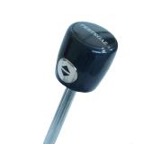 Edler Super Mini Taschenschirm Satin von PERTEGAZ mit Auf-Zu-Automatik - Flame black