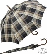 Doppler Manufaktur Regenschirm Kastanie - Karo beige braun