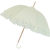 Hochzeits Schirm - Goldhauben - Regenschirm champagner