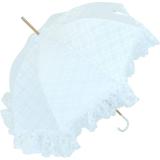 Doppler Manufaktur Hochzeitsschirm - Goldhauben - Brautschirm weiss