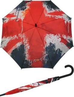 Y Not Stockschirm groß mit Automatik England paint flag UK