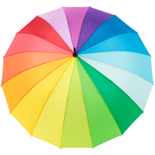 iX-brella long rainbow 16-color - Stockschirm 16-teilig mit Automatik Regenbogen