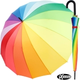 iX-brella long rainbow 16-color - Stockschirm 16-teilig...