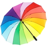 iX-brella golf rainbow 16-color - leichter XXL...