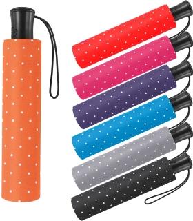 Mini-Taschenschirm Damen Flash Auf-Automatik - Dots